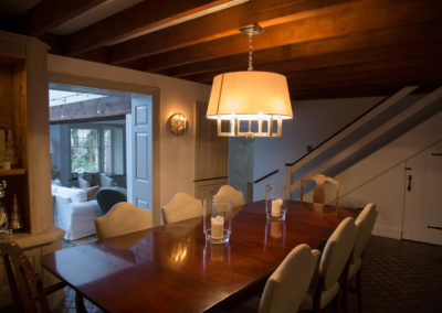 Dining room table pendant lighting by Farryn Electric