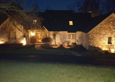 Landscape lighting and accent lighting done by Farryn Electric