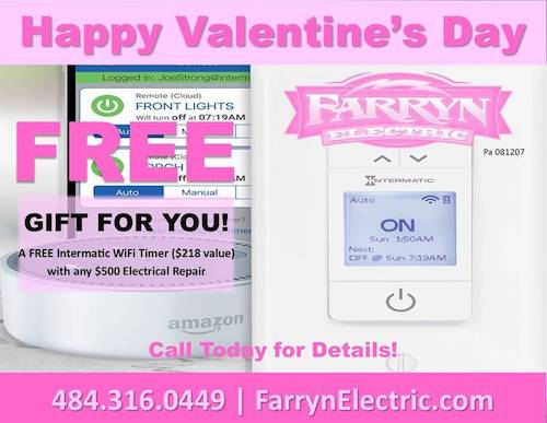 graphic with valentines day offer for free wifi intermatic timer