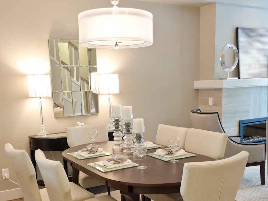 Dining room lighting by Farryn Electric